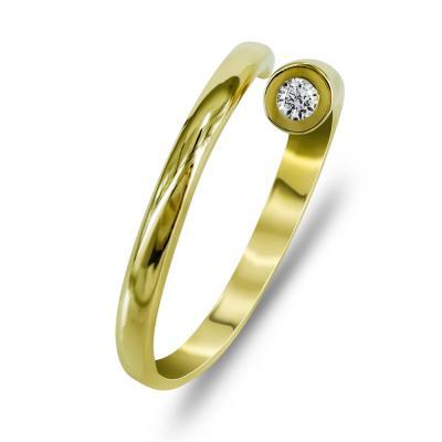 Δαχτυλίδι Μοντέρνο Από Κίτρινο Χρυσό K14 DX99774