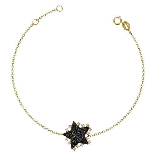 Βραχιόλι Αστέρι Με Πέτρες Από Κίτρινο Χρυσό K14 VR586