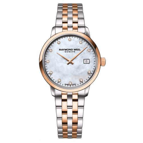 RAYMOND WEIL Toccata Diamonds Two Tone Stainless Steel Bracelet 5985-SP5-97081