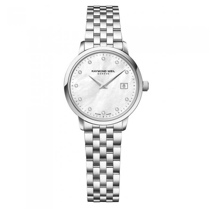 RAYMOND WEIL Toccata Diamonds Pearl Dial Stainless Steel Bracelet 5988-ST-97081