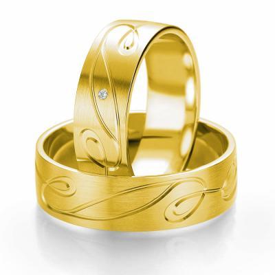 Κίτρινη Χρυσή Βέρα Γάμου Breuning με ή χωρίς Πέτρες WR307