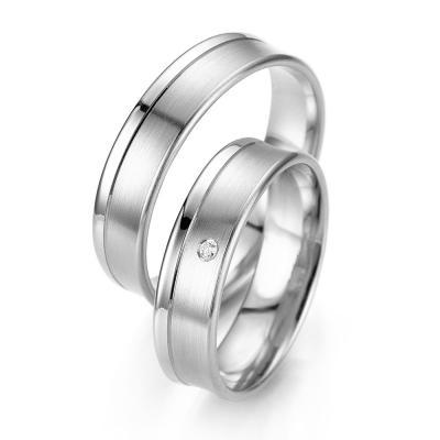 Λευκόχρυση Βέρα Γάμου Breuning με ή χωρίς Πέτρες WR318W