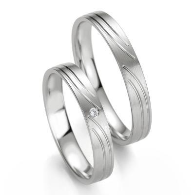 Λευκόχρυση Βέρα Γάμου Breuning με ή χωρίς Πέτρες WR328W
