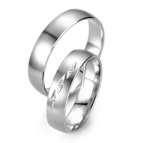 Λευκόχρυση Βέρα Γάμου Breuning με ή χωρίς Πέτρες WR329W