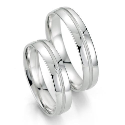 Λευκόχρυση Βέρα Γάμου Breuning με ή χωρίς Πέτρες WR330W