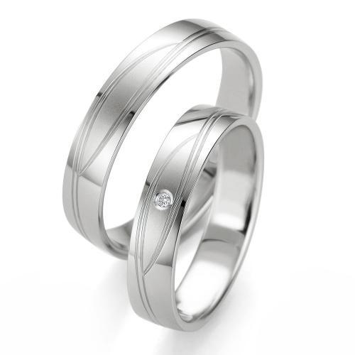 Λευκόχρυση Βέρα Γάμου Breuning με ή χωρίς Πέτρες WR332W