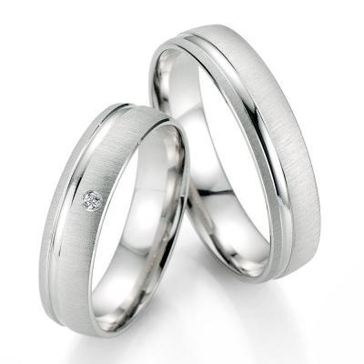 Λευκόχρυση Βέρα Γάμου Breuning με ή χωρίς Πέτρες WR333W