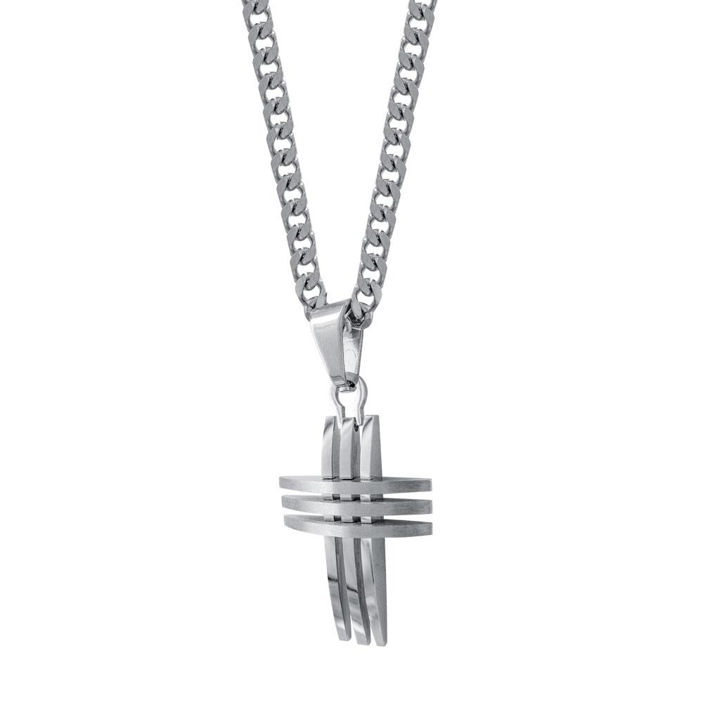 Ανδρικός Σταυρός από Ατσάλι AST169