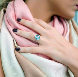 Δαχτυλιδι γαλαζιο