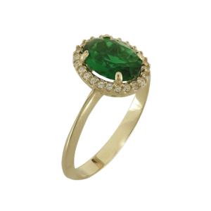Δαχτυλίδι πράσινο σκέτο
