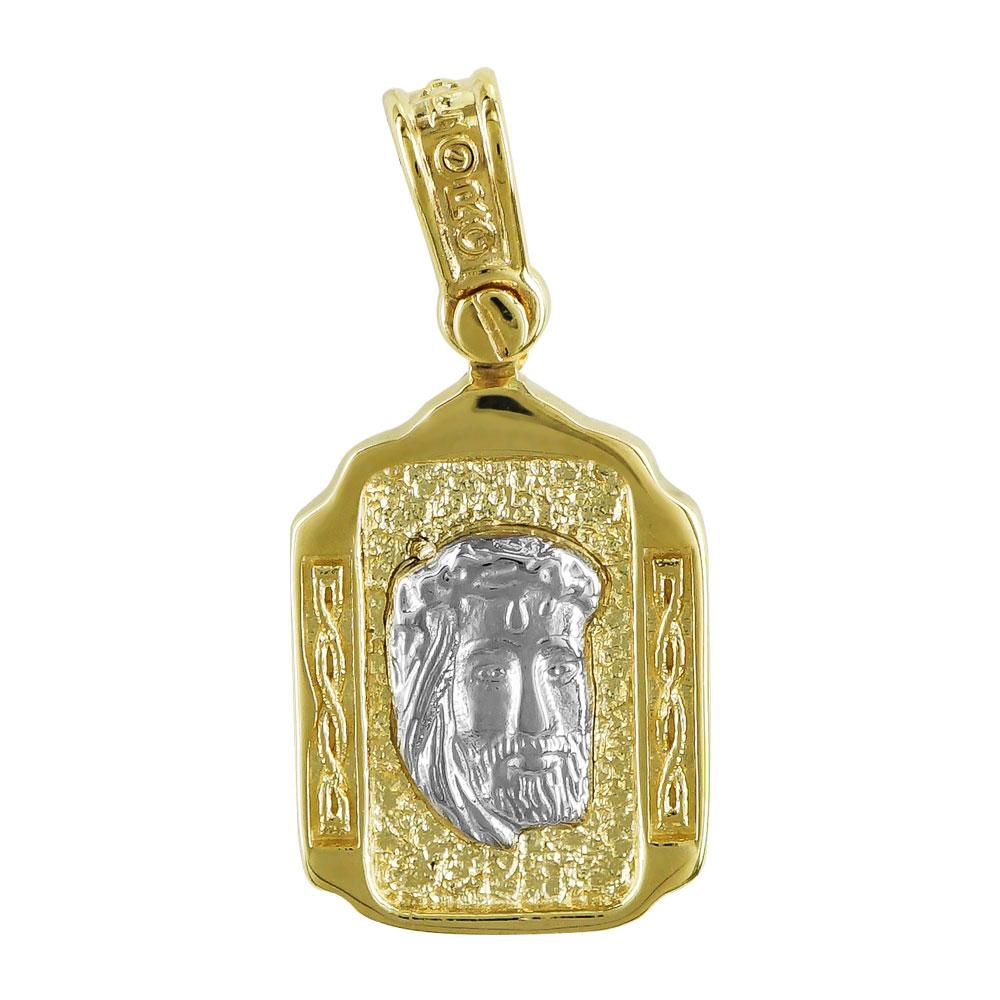 Φυλαχτό με τoν Χριστό Aπό Δίχρωμο Χρυσό K9 PA513