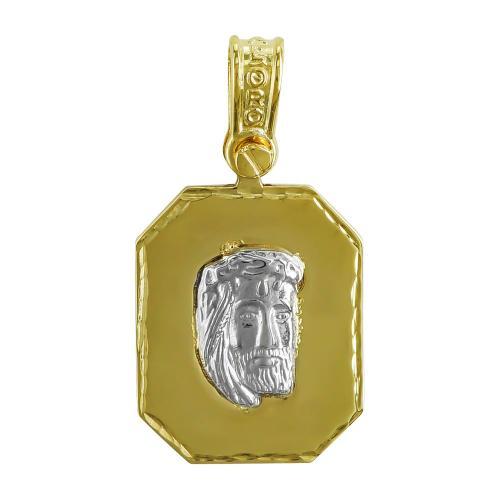Φυλαχτό με τον Χριστό Aπό Δίχρωμο Χρυσό K9 PA516