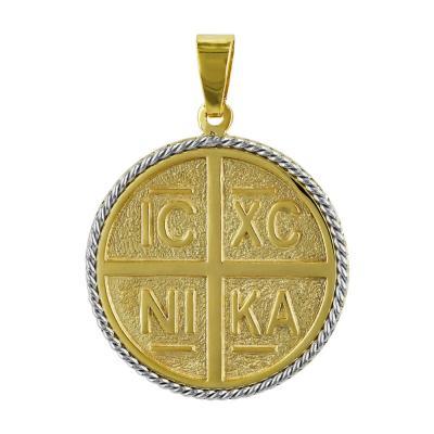 Κωνσταντινάτο Από Δίχρωμο Χρυσό Κ14 KN227