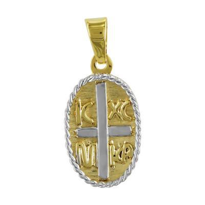 Κωνσταντινάτο Από Δίχρωμο Χρυσό Κ14 KN235