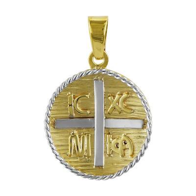 Κωνσταντινάτο Από Δίχρωμο Χρυσό Κ14 KN236