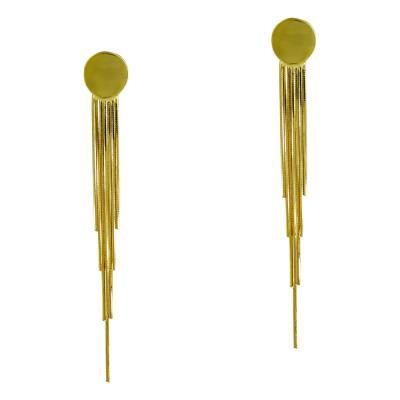 Σκουλαρίκια Κρεμαστά Από Επιχρυσωμένο Ασήμι SK900