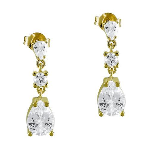 Σκουλαρίκια Με Πέτρες Από Κίτρινο Χρυσό Κ9 SK890