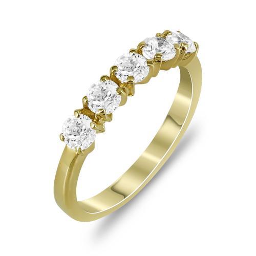 Δαχτυλίδι Μισόβερο Από Κίτρινο Χρυσό Κ14 DX775