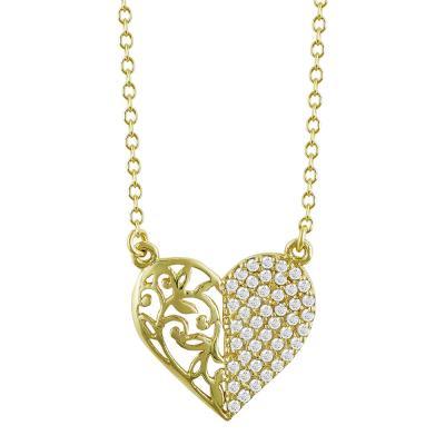 Κολιέ Kαρδιά Από Κίτρινο Χρυσό Κ9 KL776