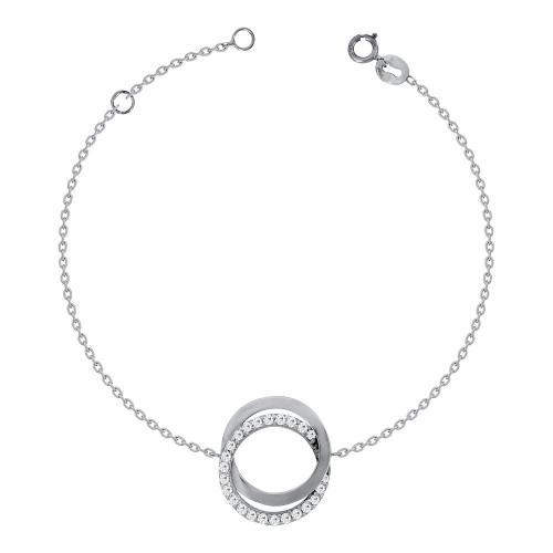 Βραχιόλι Κύκλος Από Λευκόχρυσο Κ14 VR600