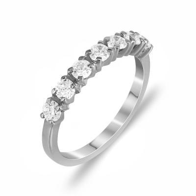 Δαχτυλίδι Μισόβερο Από Λευκόχρυσο Κ14 DX774