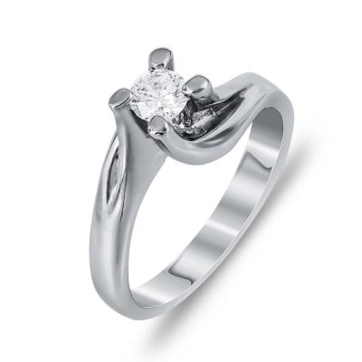 Mονόπετρο Δαχτυλίδι Με Διαμάντια Brilliant Aπό Λευκόχρυσο Κ18 DDX254