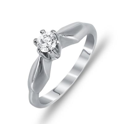 Μονόπετρο Δαχτυλίδι με Διαμάντια Brilliant K18 DDX137