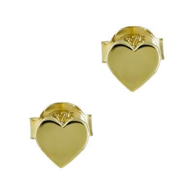 Παιδικά Σκουλαρίκια Καρδούλα Από Κίτρινο Χρυσό Κ9 PSK406