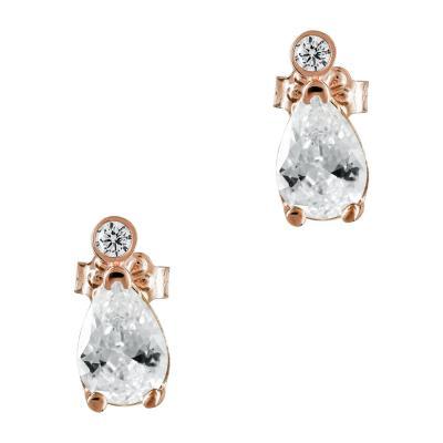 Σκουλαρίκια Με Πέτρες Από Ροζ Χρυσό Κ14 SK892