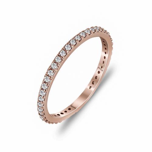 Δαχτυλίδι Ολόβερο Από Ροζ Χρυσό Κ14 DX780