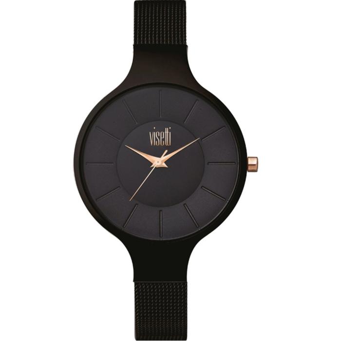 VISETTI Spectrum Black Stainless Steel Bracelet RI-350BB