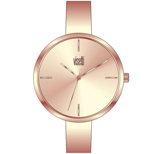 VISETTI Top Secret Rose Gold Stainless Steel Bracelet ZE-497RR
