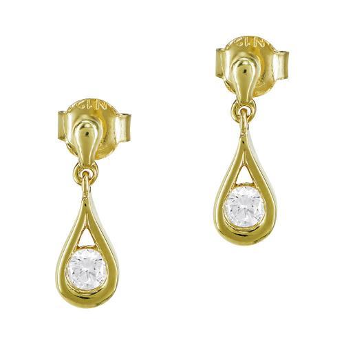 Σκουλαρίκια Δάκρυ Από Κίτρινο Χρυσό Κ9 SK906