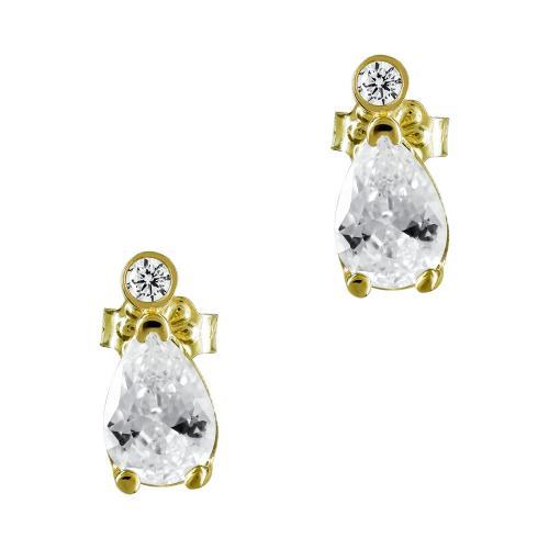 Σκουλαρίκια Με Πέτρες Από Κίτρινο Χρυσό Κ14 SK893