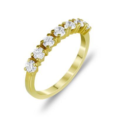 Δαχτυλίδι Μισόβερο Από Kίτρινο Χρυσό Κ14 DX771