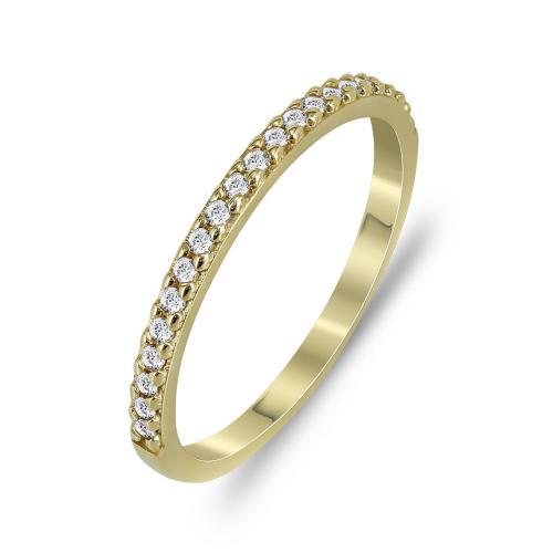 Δαχτυλίδι Μισόβερο Από Κίτρινο Χρυσό Κ14 DX777