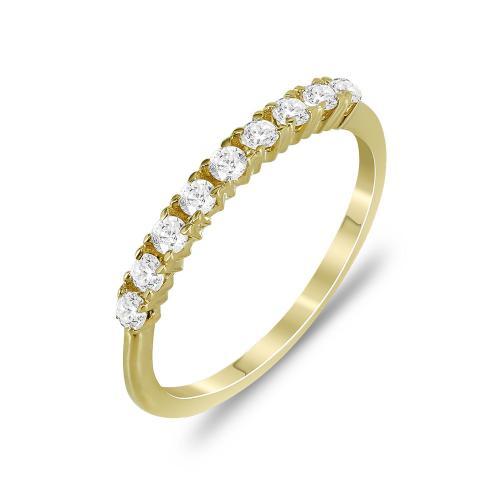 Δαχτυλίδι Μισόβερο Από Κίτρινο Χρυσό Κ14 DX779