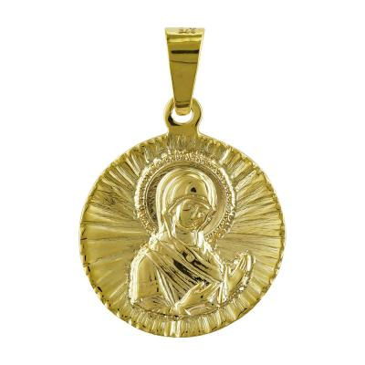 Φυλαχτό με την Παναγίτσα Aπό Κίτρινο Χρυσό K9 PA504
