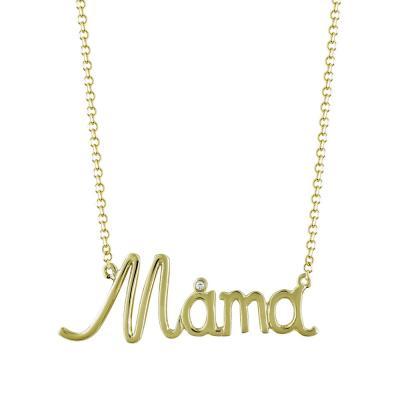 Κολιέ Mama Από Κίτρινο Χρυσό K9 KL766