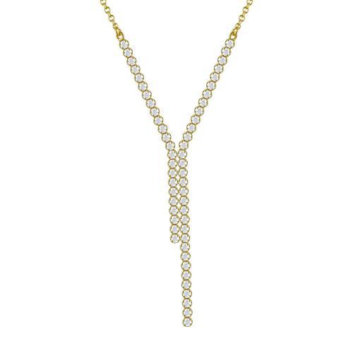 Κολιέ Με Πέτρες Από Κίτρινο Χρυσό Κ14 KL787