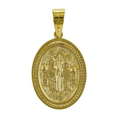 Κωνσταντινάτο Από Κίτρινο Χρυσό Κ14 KN226