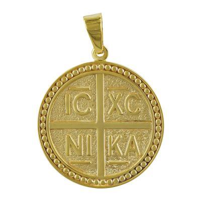 Κωνσταντινάτο Από Κίτρινο Χρυσό Κ14 KN230