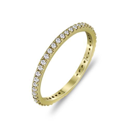 Δαχτυλίδι Ολόβερο Από Κίτρινο Χρυσό Κ14 DX773
