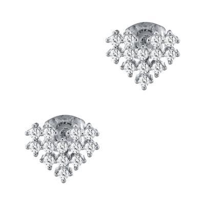Σκουλαρίκια Καρδιά Από Ασήμι SK966