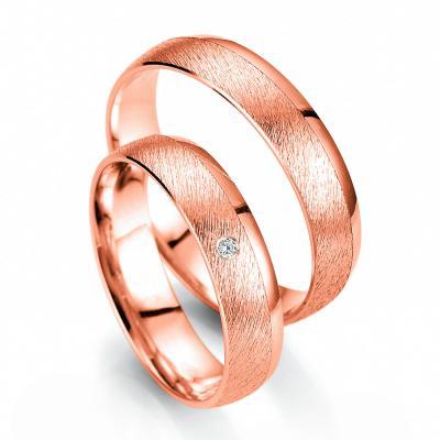 Ροζ Χρυσή Βέρα Γάμου Breuning με ή χωρίς Πέτρες WR335R