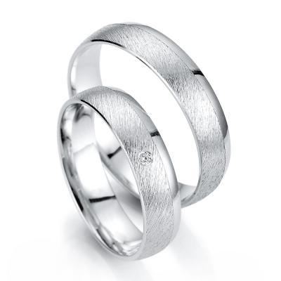 Λευκόχρυση Βέρα Γάμου Breuning με ή χωρίς Πέτρες WR335W