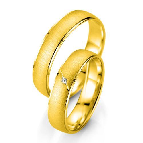Κίτρινη Χρυσή Βέρα Γάμου Breuning με ή χωρίς Πέτρες WR338