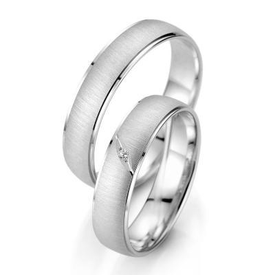 Λευκόχρυση Βέρα Γάμου Breuning με ή χωρίς Πέτρες WR338W