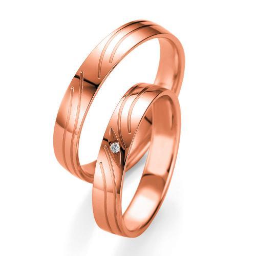 Ροζ Χρυσή Βέρα Γάμου Breuning με ή χωρίς Πέτρες WR339R