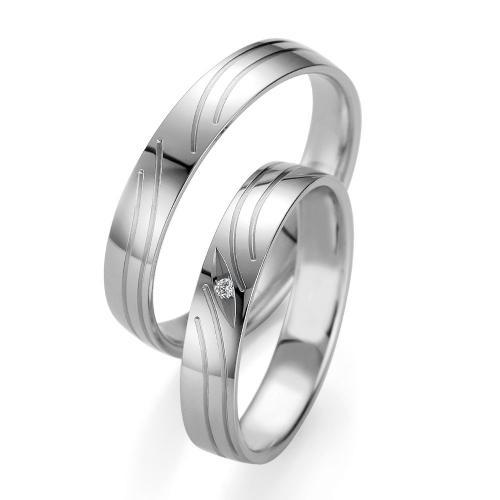 Λευκόχρυση Βέρα Γάμου Breuning με ή χωρίς Πέτρες WR339W